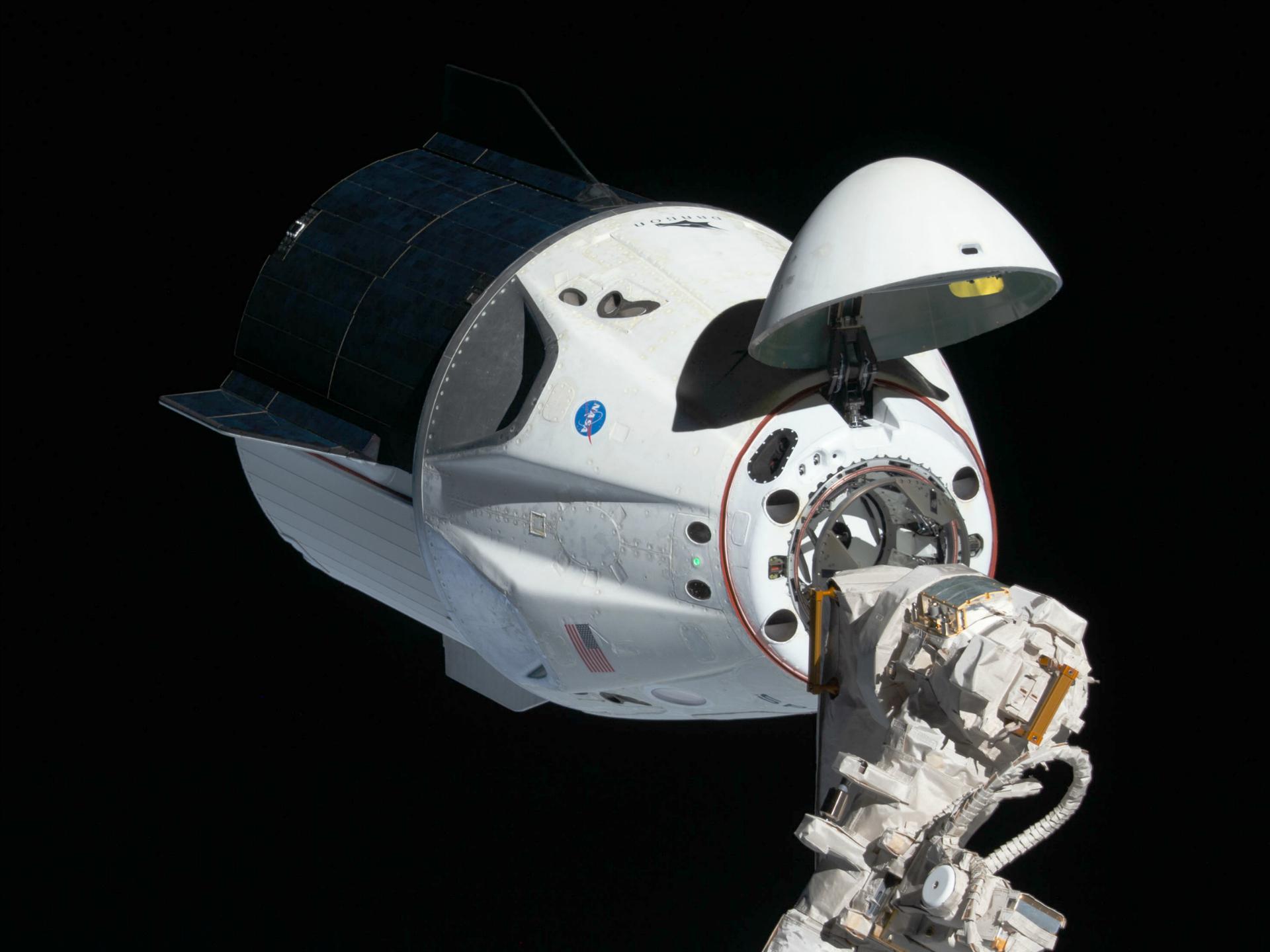 SpaceX DM-2 Crew Dragon Undocking