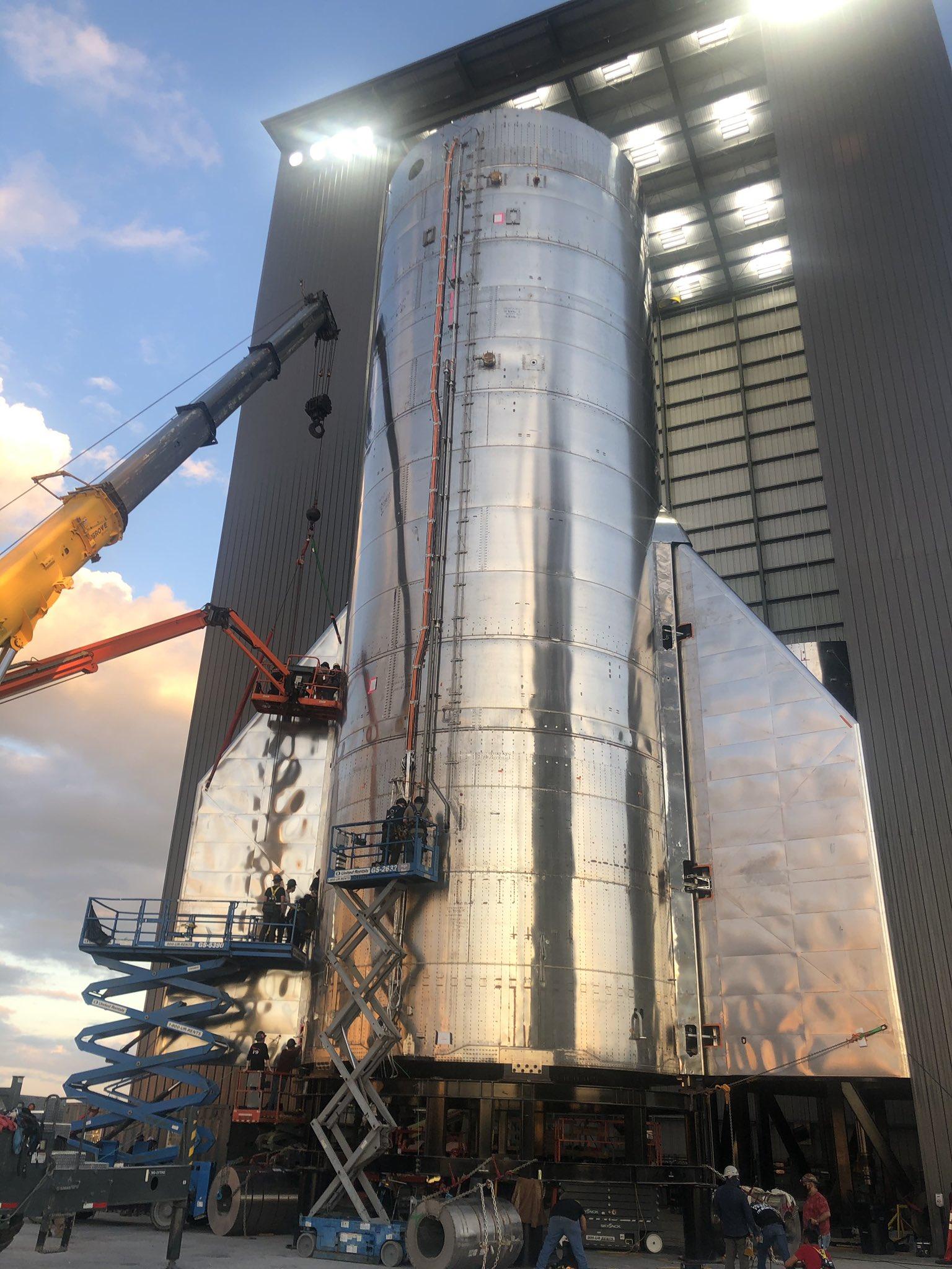 Starship SN8 Preburner Test