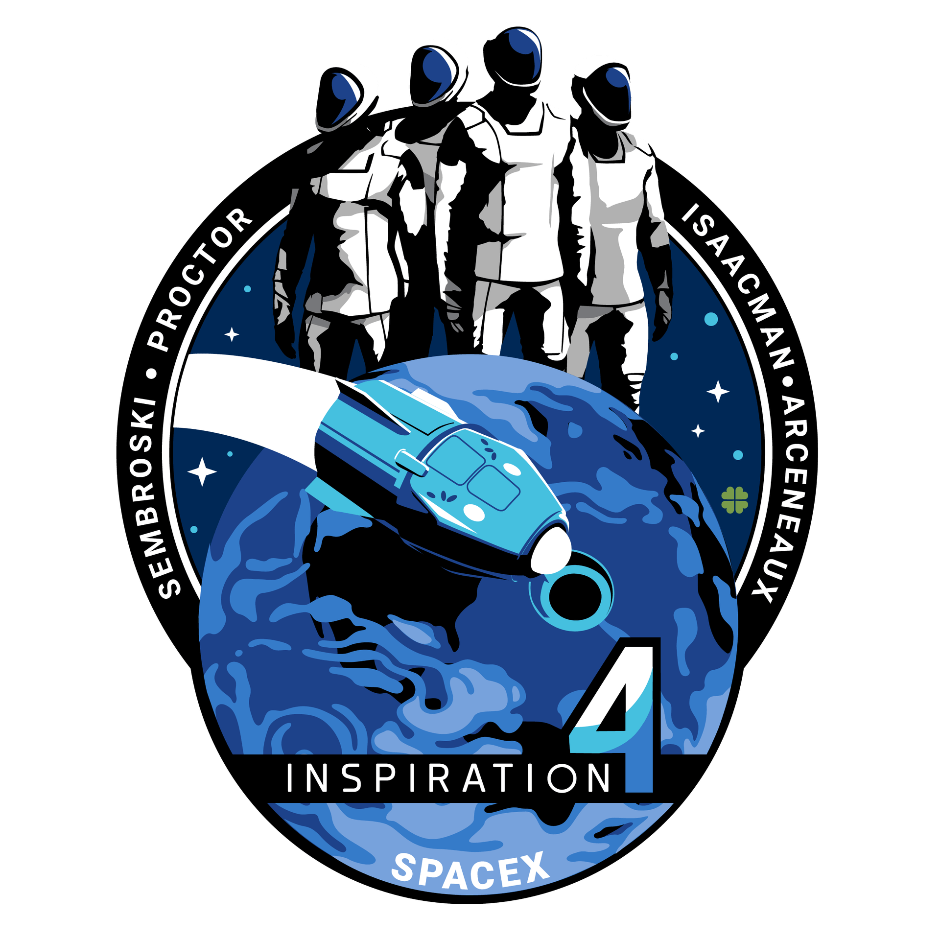 Inspiration4 SpaceX Internal Mission Patch