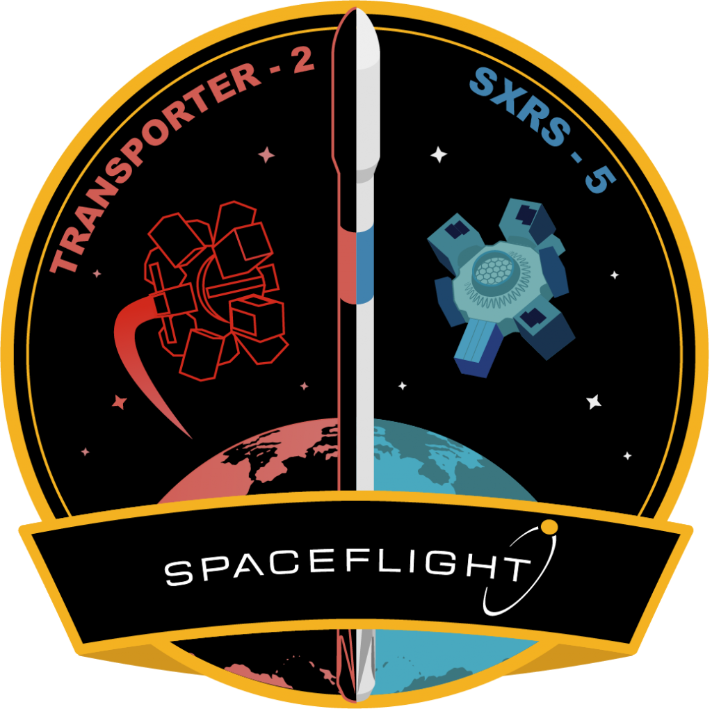 Mission patch for Transporter 2 (Dedicated SSO Rideshare)